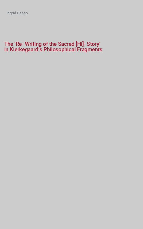 The 'Re-Writing of the Sacred [Hi]-Story'