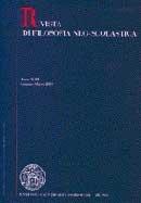 RIVISTA DI FILOSOFIA NEO-SCOLASTICA - 2007 - 3