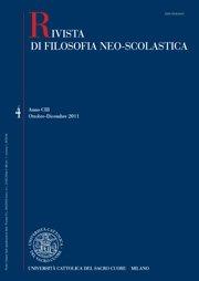 RIVISTA DI FILOSOFIA NEO-SCOLASTICA - 2013 - 2