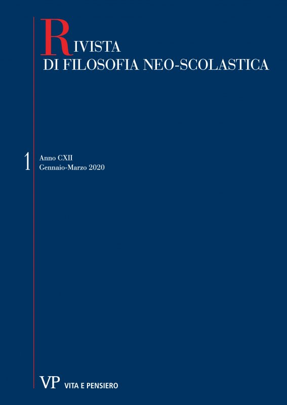 RIVISTA DI FILOSOFIA NEO-SCOLASTICA - 2020 - 1