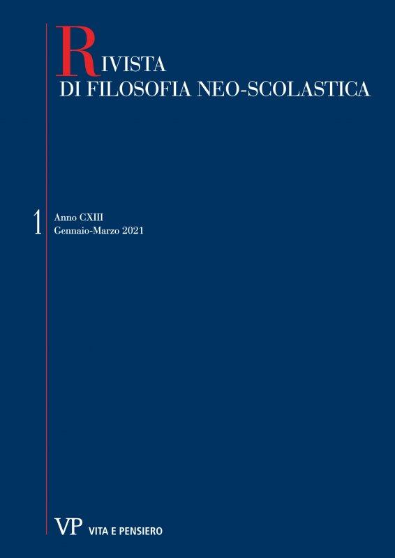 RIVISTA DI FILOSOFIA NEO-SCOLASTICA - 2021 - 1. Severino Boezio: la filosofia tra religione e poesia